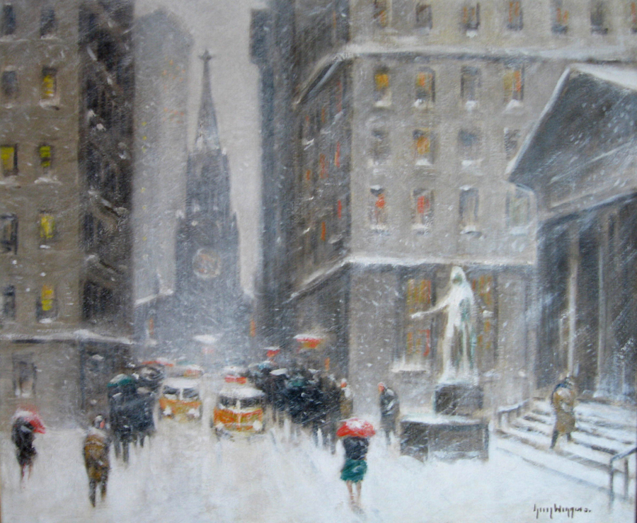 Wall Street In Winter unframed